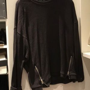 Double zipper Zara sweatshirt